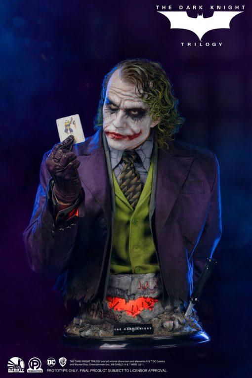 The Dark Knight Life-Size Bust Joker 82 cm