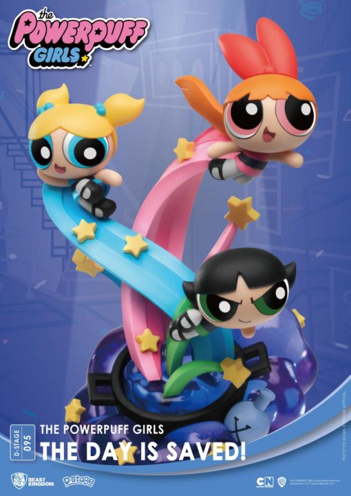 The Powerpuff Girls D-Stage PVC Diorama The Day Is Saved New Version 15 cm