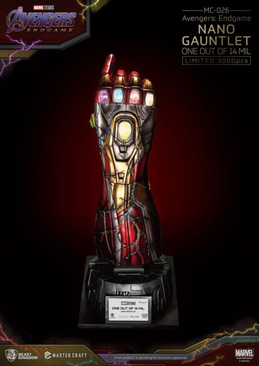 Avengers Endgame Master Craft Statue Nano Gauntlet 1/14000605 47 cm